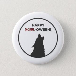 Bóton Redondo 5.08cm Design feliz do Dia das Bruxas do homem-lobo do