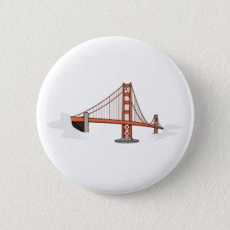 Bóton Redondo 5.08cm Destino   de golden gate bridge San Francisco