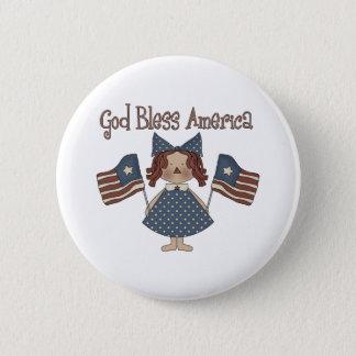 Bóton Redondo 5.08cm Deus abençoe América