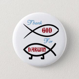 Bóton Redondo 5.08cm Deus do obrigado para o botão de Darwin