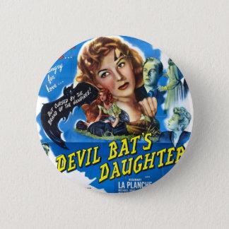 Bóton Redondo 5.08cm Devil Bat's Daughter, vintage horror movie poster