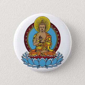 Bóton Redondo 5.08cm Dharmachakra Buddha