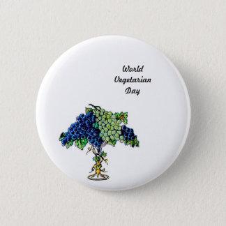 Bóton Redondo 5.08cm Dia-botão do vegetariano do mundo