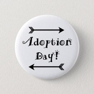 Bóton Redondo 5.08cm Dia da adopção! Adoptivo/adote o design