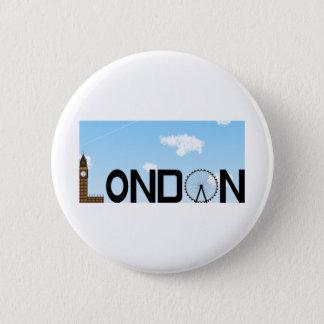 Bóton Redondo 5.08cm Dia da skyline de Londres