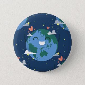 Bóton Redondo 5.08cm Dia da Terra bonito