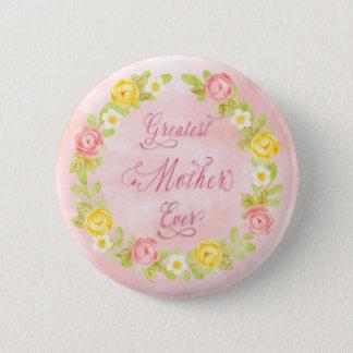 Bóton Redondo 5.08cm Dia das mães - arte bonito da palavra dos rosas 2