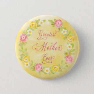 Bóton Redondo 5.08cm Dia das mães - arte bonito da palavra dos rosas 3