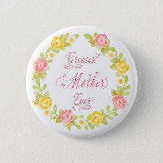 Bóton Redondo 5.08cm Dia das mães - arte bonito da palavra dos rosas da