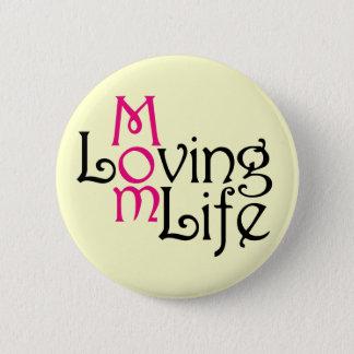 Bóton Redondo 5.08cm Dia das mães Loving da vida da mamã