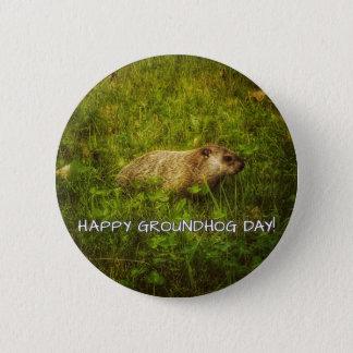Bóton Redondo 5.08cm Dia de Groundhog feliz! botão