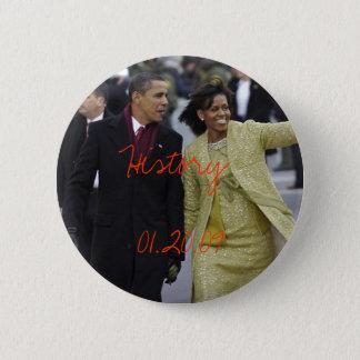 Bóton Redondo 5.08cm Dia de inauguração 1/20/09 de Barack Obama e de