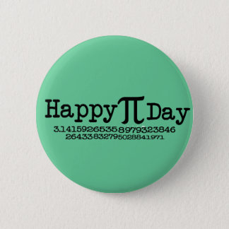 Bóton Redondo 5.08cm Dia feliz do Pi