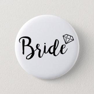 Bóton Redondo 5.08cm Diamante de Bling da noiva