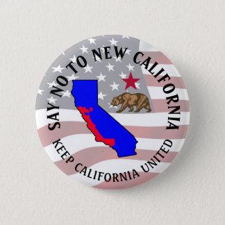 Bóton Redondo 5.08cm Diga não ao botão novo do apoio de Califórnia