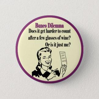 Bóton Redondo 5.08cm Dilema engraçado de Bunco com mulher retro