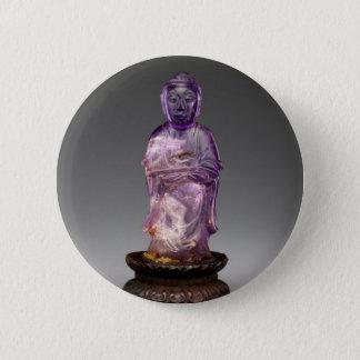 Bóton Redondo 5.08cm Dinastia assentada de Buddha - de Qing (1644-1911)
