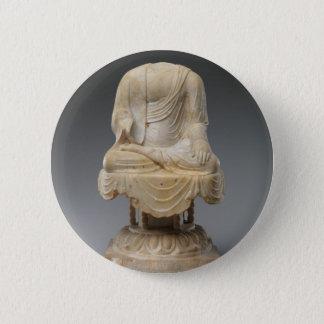 Bóton Redondo 5.08cm Dinastia decapitado de Buddha - de Tang (618-907)