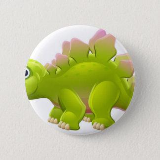 Bóton Redondo 5.08cm Dinossauro bonito dos desenhos animados do
