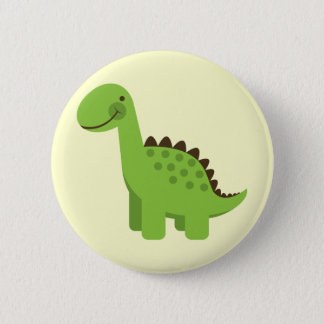 Bóton Redondo 5.08cm Dinossauro verde bonito