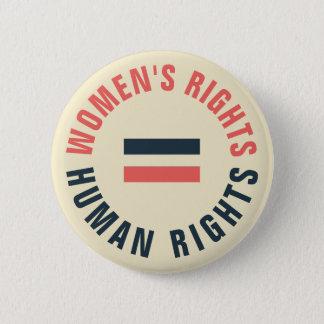 Bóton Redondo 5.08cm Direitos humanos iguais dos direitos das mulheres