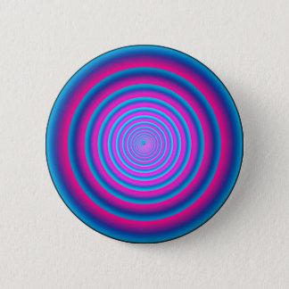 Bóton Redondo 5.08cm Disco circular louco roxo distorcido hipnótico do