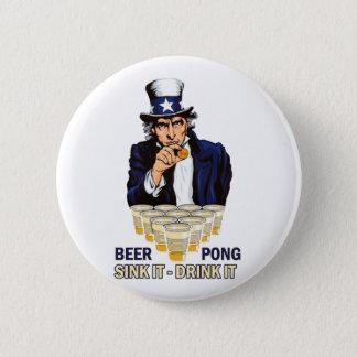 Bóton Redondo 5.08cm Dissipador ele bebida ele Abe Lincoln