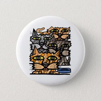 """Bóton Redondo 5.08cm Do """"botão redondo do Meow wow"""""""