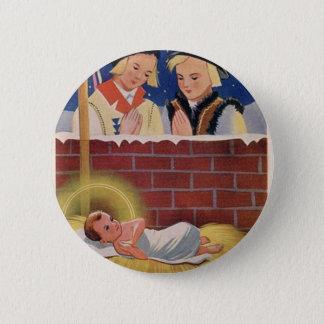 Bóton Redondo 5.08cm Do Natal polonês de Wesołyeh Świąt do vintage arte