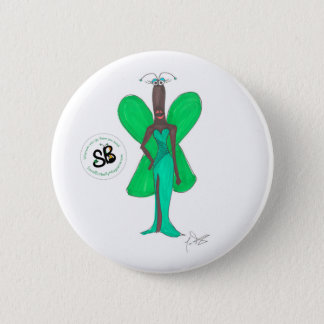 Bóton Redondo 5.08cm Do verde Pseudo da celebridade de SBM Pin Glam do