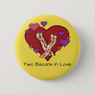 Bóton Redondo 5.08cm Dois bacon no amor