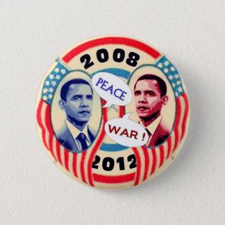 Bóton Redondo 5.08cm Dois-Cara de Obama