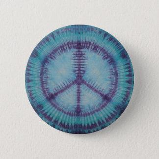 Bóton Redondo 5.08cm Dom roxo do botão dos sinais de paz