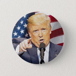 Bóton Redondo 5.08cm Donald Trump