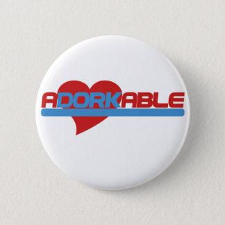 Bóton Redondo 5.08cm Dork adorável de Adorkable