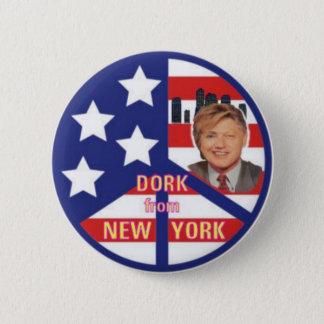 Bóton Redondo 5.08cm Dork do botão de New York