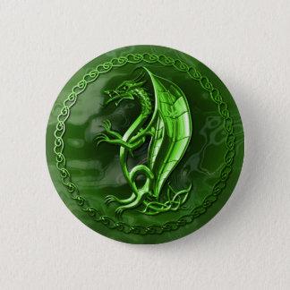 Bóton Redondo 5.08cm Dragão celta verde