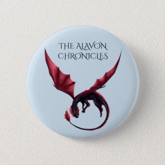 Bóton Redondo 5.08cm Dragão Ouroboros 2 1/4 de Alavon no botão redondo