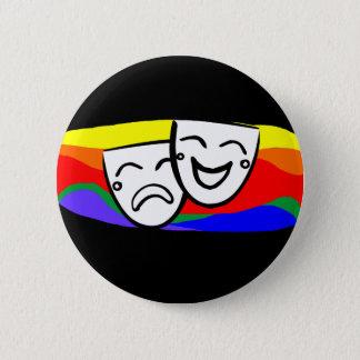 Bóton Redondo 5.08cm Drama: os redemoinhos do arco-íris