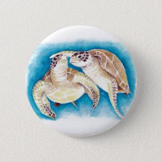 Bóton Redondo 5.08cm Duas tartarugas de mar