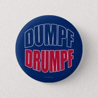 Bóton Redondo 5.08cm DUMPF DRUMPF (azul & vermelho no azul)