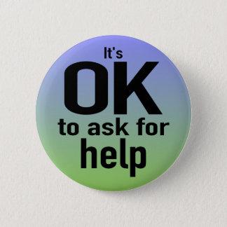 """Bóton Redondo 5.08cm """"É APROVADO pedir botão da ajuda"""""""