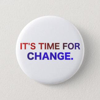 Bóton Redondo 5.08cm É hora para o botão da mudança