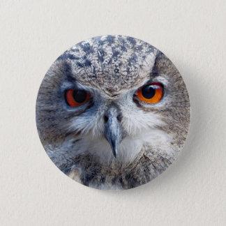 Bóton Redondo 5.08cm Eagle-Coruja euro-asiática, Uhu