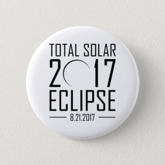 Bóton Redondo 5.08cm Eclipse 2017 solar total