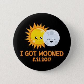Bóton Redondo 5.08cm Eclipse solar engraçado   que eu obtive Mooned
