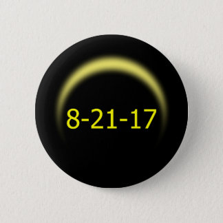 Bóton Redondo 5.08cm Eclipse solar total 2017
