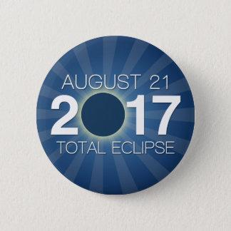 Bóton Redondo 5.08cm Eclipse solar total 2017 - design azul