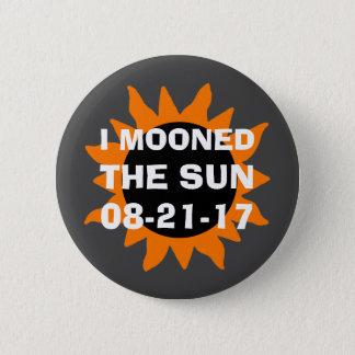 Bóton Redondo 5.08cm Eclipse solar total eu Mooned o Sun