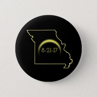 Bóton Redondo 5.08cm Eclipse solar total Missouri 2017
